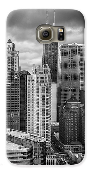 Streeterville From Above Black And White Galaxy S6 Case