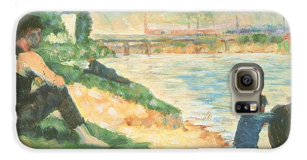 Boy George Galaxy S6 Case - Study For Une Baignade by Georges Pierre Seurat