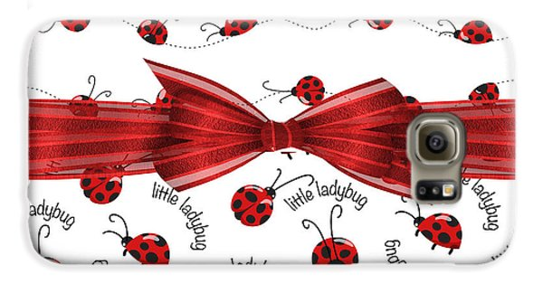 Stylish Ladybugs Galaxy S6 Case by Debra  Miller