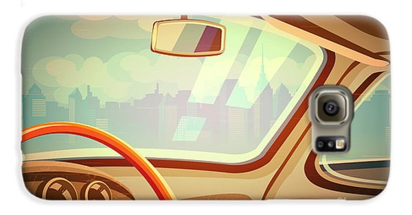 Automobile Galaxy S6 Case - Stylized Retro Interior Vector by Andrii Stepaniuk