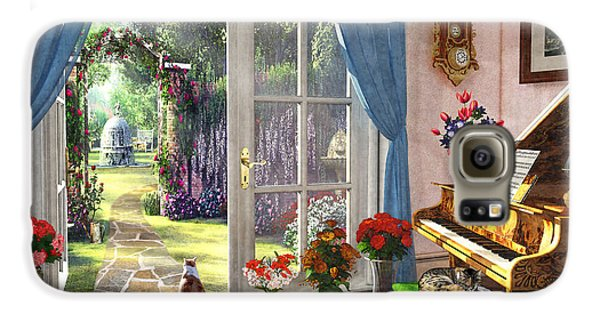 Galaxy S6 Case featuring the painting Summer Garden View by Dominic Davison