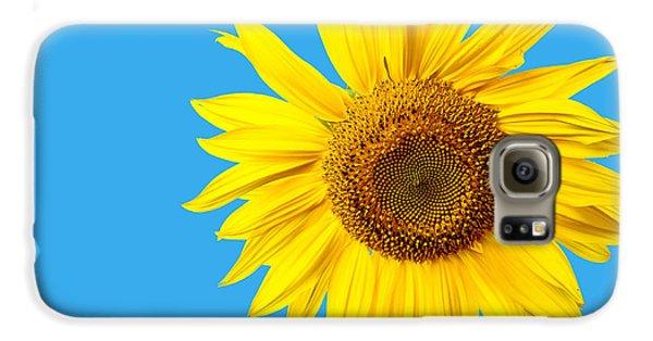 Sunflower Galaxy S6 Case - Sunflower Blue Sky by Edward Fielding