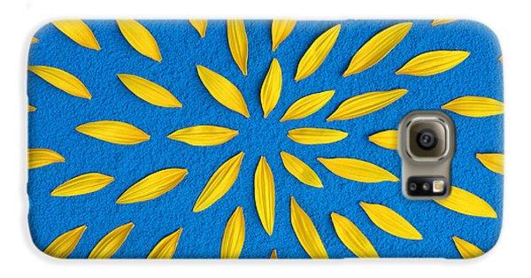 Sunflower Galaxy S6 Case - Sunflower Petals Pattern by Tim Gainey
