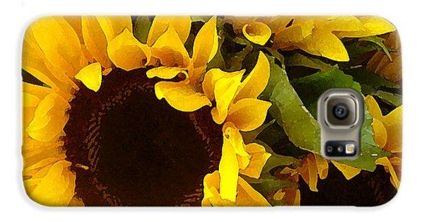 Sunflower Galaxy S6 Case - Sunflowers by Amy Vangsgard