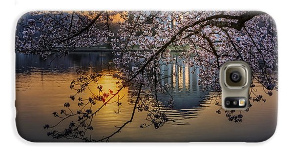 Jefferson Memorial Galaxy S6 Case - Sunrise At The Thomas Jefferson Memorial by Susan Candelario