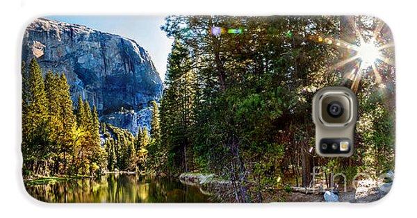 Yosemite National Park Galaxy S6 Case - Sunrise At Yosemite by Az Jackson