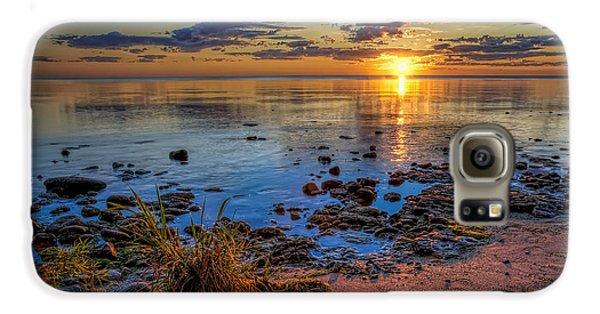 Sunrise Over Lake Michigan Galaxy S6 Case by Scott Norris