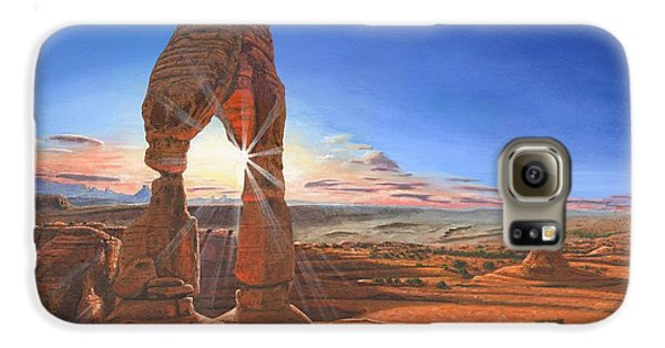 Desert Galaxy S6 Case - Sunset At Delicate Arch Utah by Richard Harpum