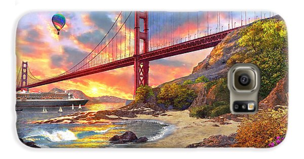 Sunset At Golden Gate Galaxy S6 Case