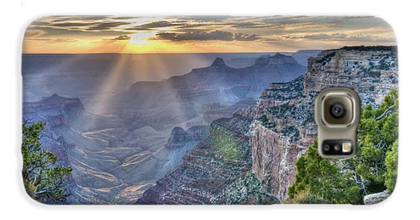 Sunset At Northern Rim Of The Grand Canyon Galaxy S6 Case