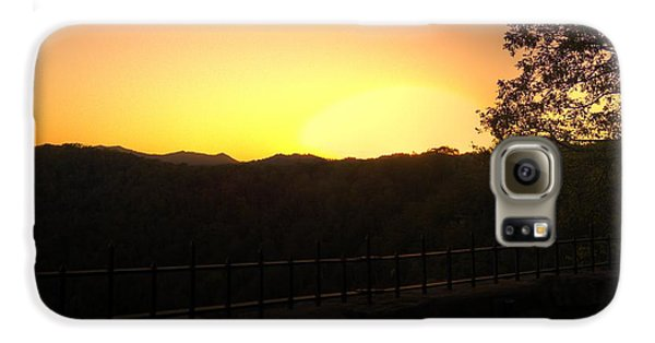Galaxy S6 Case featuring the photograph Sunset Behind Hills by Jonny D