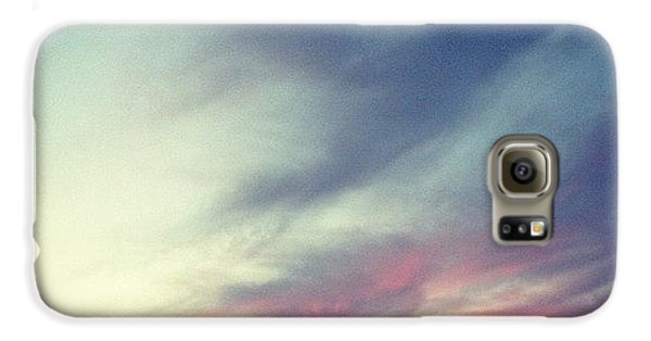 Blue Galaxy S6 Case - Sunset Clouds by Christy Beckwith