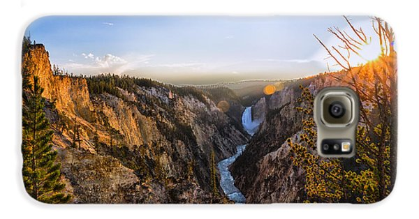 Sunset In Yellowstone Grand Canyon Galaxy S6 Case