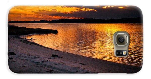 Sunset Over Little Assawoman Bay Galaxy S6 Case