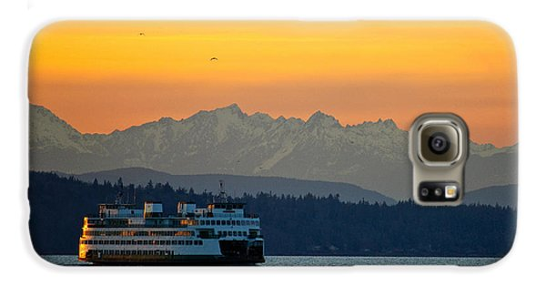 Sunset Over Olympic Mountains Galaxy S6 Case by Dan Mihai