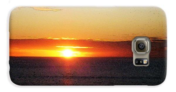 Sunset Painting - Orange Glow Galaxy S6 Case