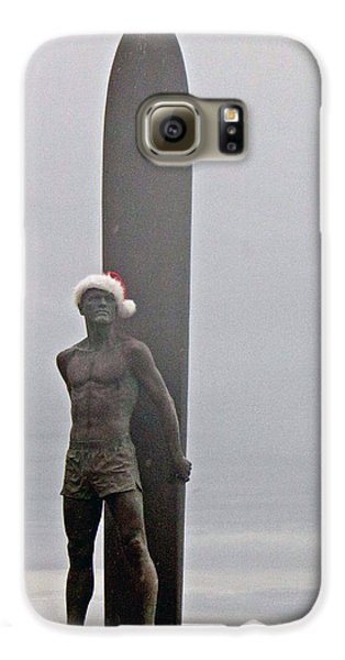 Galaxy S6 Case featuring the photograph Surfer Santa  by Lora Lee Chapman