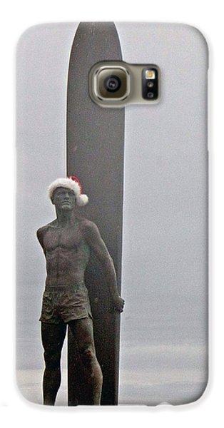 Surfer Santa  Galaxy S6 Case by Lora Lee Chapman
