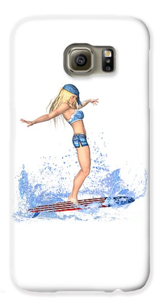 Luxmaris Galaxy S6 Case - Surfing Girl by Renate Janssen