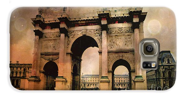 Louvre Museum Arc De Triomphe Louvre Arch Courtyard Sepia- Louvre Museum Arc Monument Galaxy S6 Case