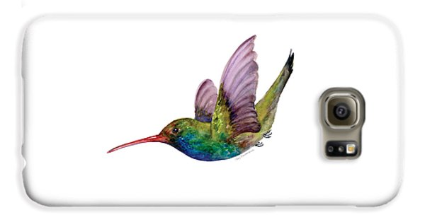 Swooping Broad Billed Hummingbird Galaxy S6 Case by Amy Kirkpatrick