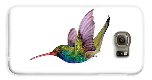Swooping Broad Billed Hummingbird Galaxy S6 Case