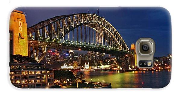 Sydney Harbour Bridge By Night Galaxy S6 Case