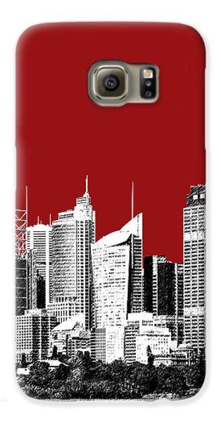 Sydney Skyline 1 - Dark Red Galaxy S6 Case by DB Artist