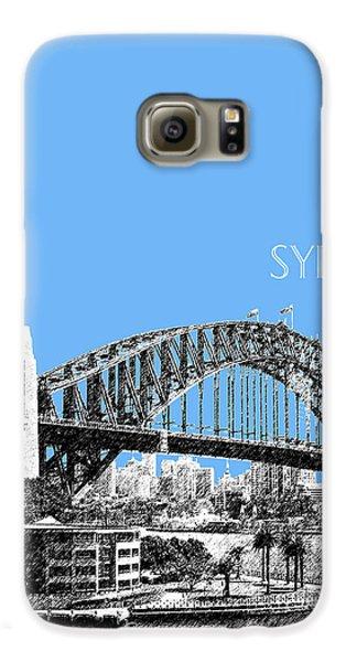 Sydney Skyline 2 Harbor Bridge - Light Blue Galaxy S6 Case by DB Artist