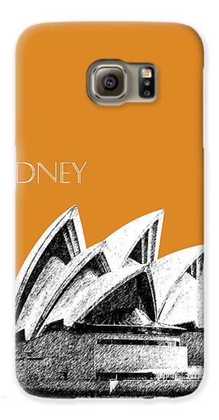 Sydney Skyline 3  Opera House - Dark Orange Galaxy S6 Case