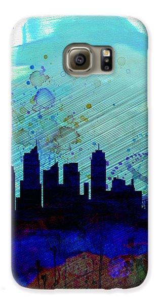 Sydney Watercolor Skyline Galaxy S6 Case by Naxart Studio