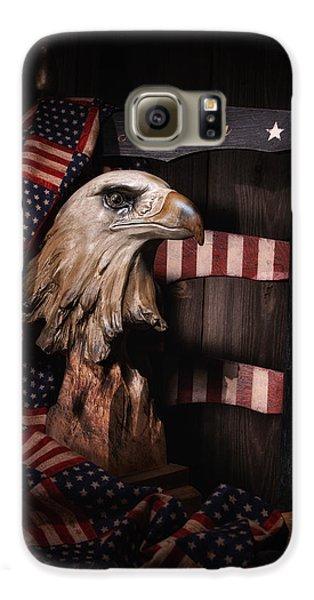 Eagle Galaxy S6 Case - Symbol Of America Still Life by Tom Mc Nemar