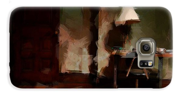 Harlem Galaxy S6 Case - Table Lamp Chair by H James Hoff