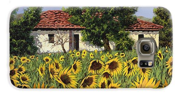 Sunflower Galaxy S6 Case - Tanti Girasoli Davanti by Guido Borelli