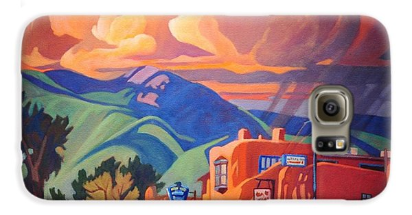 Canary Galaxy S6 Case - Taos Inn Monsoon by Art James West