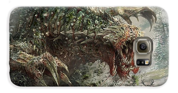 Tarmogoyf Reprint Galaxy S6 Case by Ryan Barger