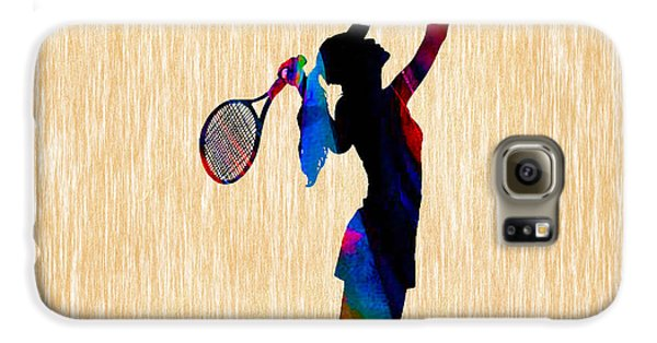 Tennis Game Galaxy S6 Case by Marvin Blaine