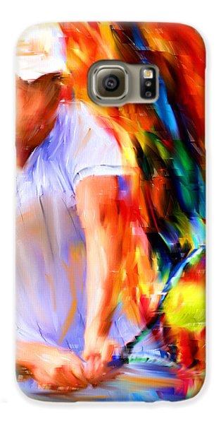 Tennis II Galaxy S6 Case by Lourry Legarde