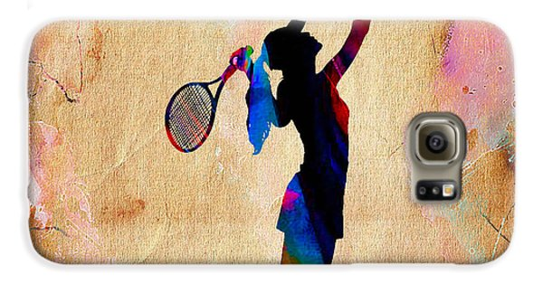 Tennis Match Galaxy S6 Case by Marvin Blaine