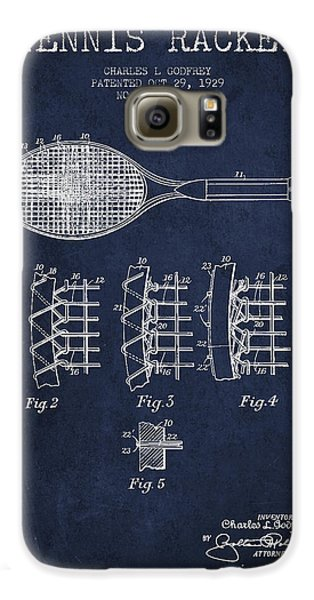 Tennnis Racket Patent Drawing From 1929 Galaxy S6 Case by Aged Pixel