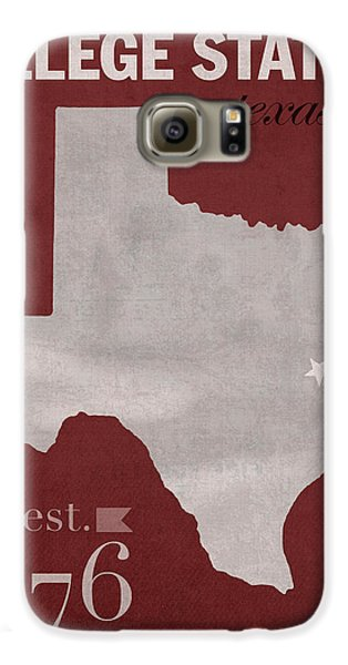 Texas A And M University Aggies College Station College Town State Map Poster Series No 106 Galaxy S6 Case by Design Turnpike
