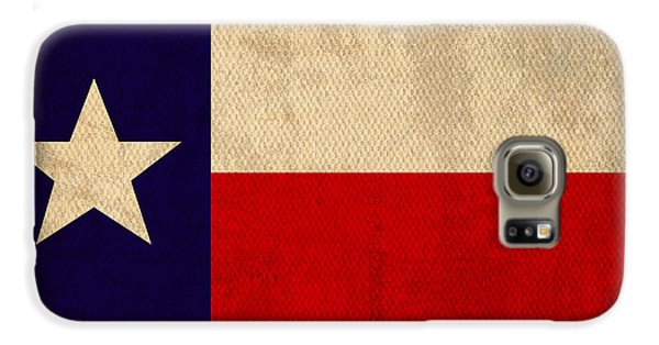 Texas State Flag Lone Star State Art On Worn Canvas Galaxy S6 Case