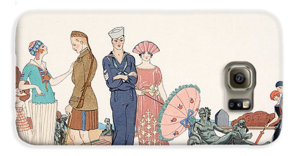 Boy George Galaxy S6 Case - The Allies At Versailles by Georges Barbier