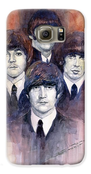 Musician Galaxy S6 Case - The Beatles 02 by Yuriy Shevchuk
