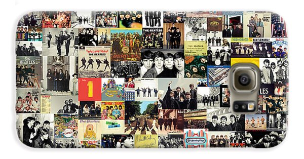 Rock And Roll Galaxy S6 Case - The Beatles Collage by Zapista