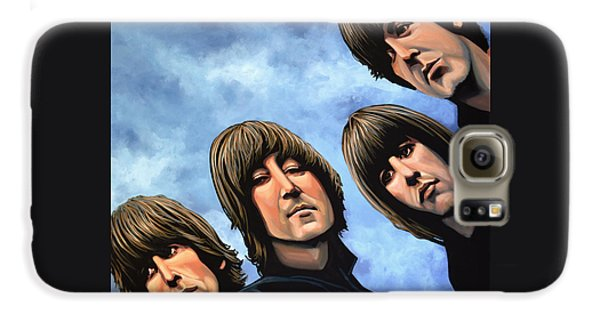 Rock And Roll Galaxy S6 Case - The Beatles Rubber Soul by Paul Meijering