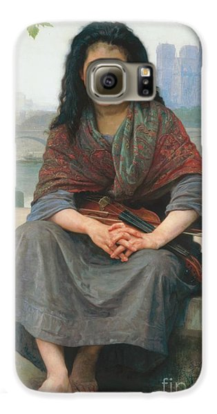 Violin Galaxy S6 Case - The Bohemian by William Adolphe Bouguereau