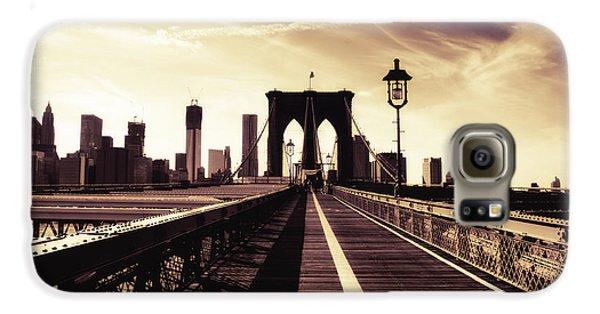 The Brooklyn Bridge - New York City Galaxy S6 Case