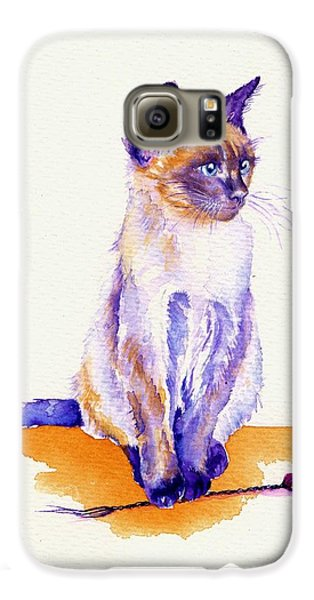 Cat Galaxy S6 Case - The Catmint Mouse Hunter by Debra Hall