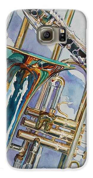 Trombone Galaxy S6 Case - The Color Of Music by Jenny Armitage